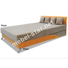 Односпальная, двуспальная кровать с подъемным механизмом и матрасом Сафари