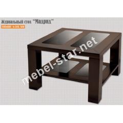 журнальный стол из дерева и стекла Мадрид