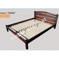 двуспальная кровать из дерева Гавань