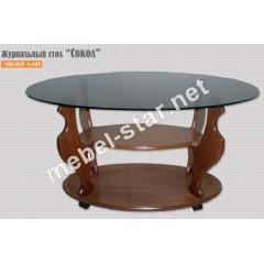 Журнальный стол из дерева Сокол